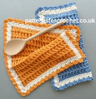 Crochet Baby Dishcloth Free Pattern : Free crochet pattern cotton waffle dishcloth uk