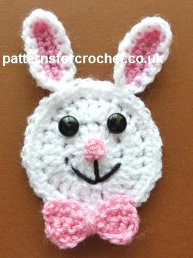 Free Crochet Pattern Rabbit Face Motif Usa