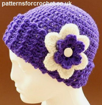 Crochet Stitches Uk Pdf : Free crochet pattern beanie hat usa