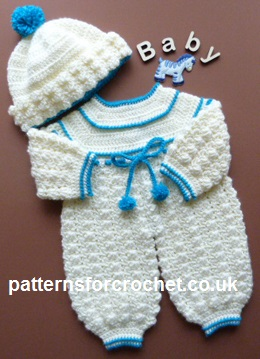Free Baby Crochet Pattern Rompers And Bottle Hat Uk