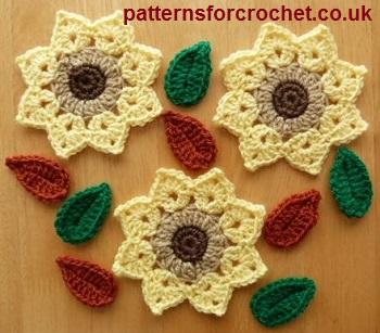 Free crochet pattern flower motif usa dt1010fo