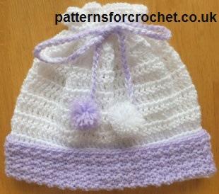 Free Baby Crochet Patterns Pull On Hat Uk