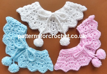 Free Baby Crochet Pattern Pretty Collar Usa