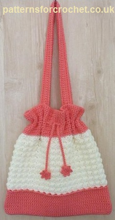 Free crochet pattern drawstring bag usa