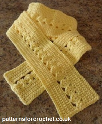 Free crochet pattern ladies scarf usa