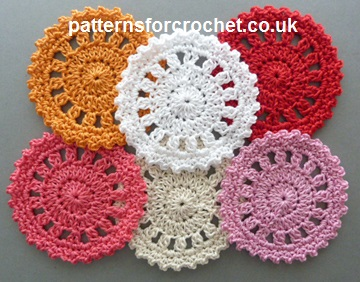 Free crochet pattern round coaster usa dt1010fo