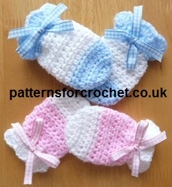 Free crochet baby pattern baby mitts usa