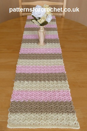 Free Crochet Pattern Table Runner Usa