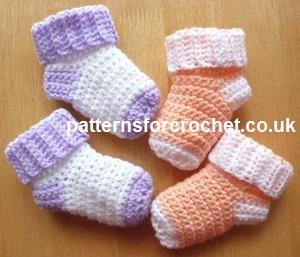 Free baby crochet pattern baby socks usa