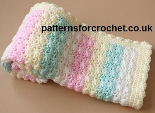 Crochet Baby Blanket Patterns Popcorn Stitch : Free baby crochet patterns blanket uk