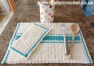 Free Crochet Pattern Kitchen Towel And Dishcloth Usa