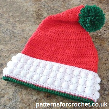 Free crochet pattern Santa Hat usa