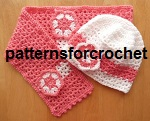 Girls Hat & Scarf Set USA