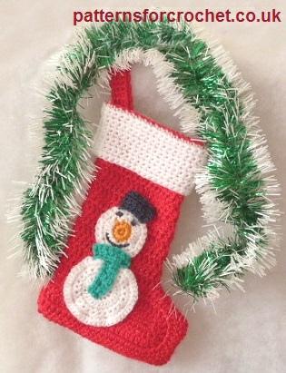 Free Crochet Pattern Christmas Sock Usa