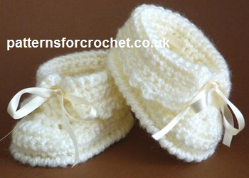 Free Baby Crochet Pattern Baby Booties Usa