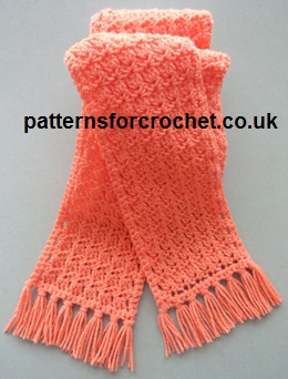 Free Crochet Pattern Tasselled Scarf Uk