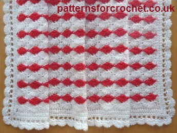 Crochet Baby Blanket Patterns Popcorn Stitch : Free baby crochet pattern pram blanket UK