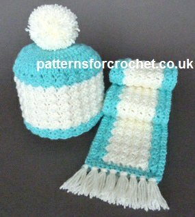 Free Crochet Pattern Toddlers Hat And Scarf Usa