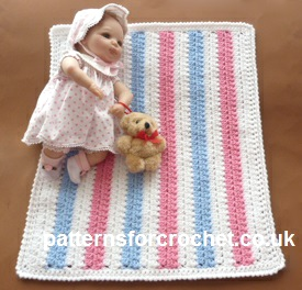 Free Crochet Pattern Dolls Blanket Usa